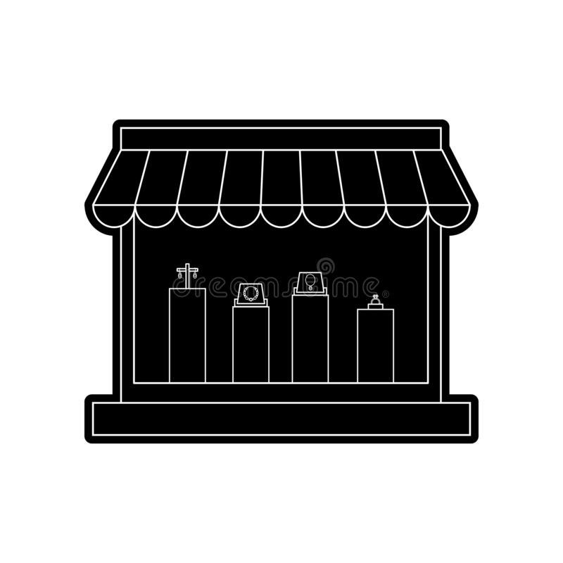 Jewelery store icon. Element of Hipermarket for mobile concept and web apps icon. Glyph, flat icon for website design and. Development, app development on white vector illustration