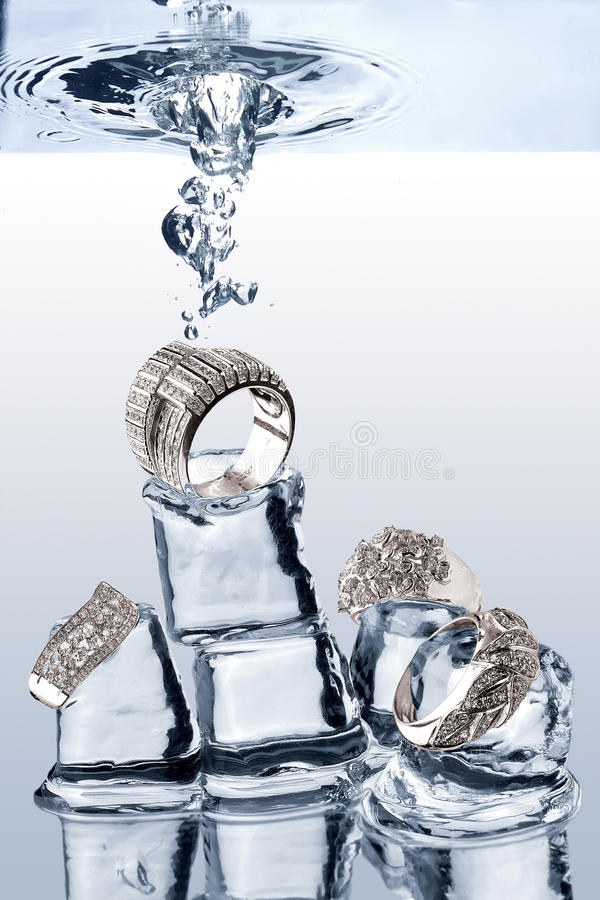 Jewelery subaquático fotos de stock royalty free