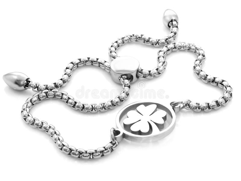 jewelle cztery liści koniczyna dla szczęścia 375 magna stal nierdzewna 04 obrazy royalty free