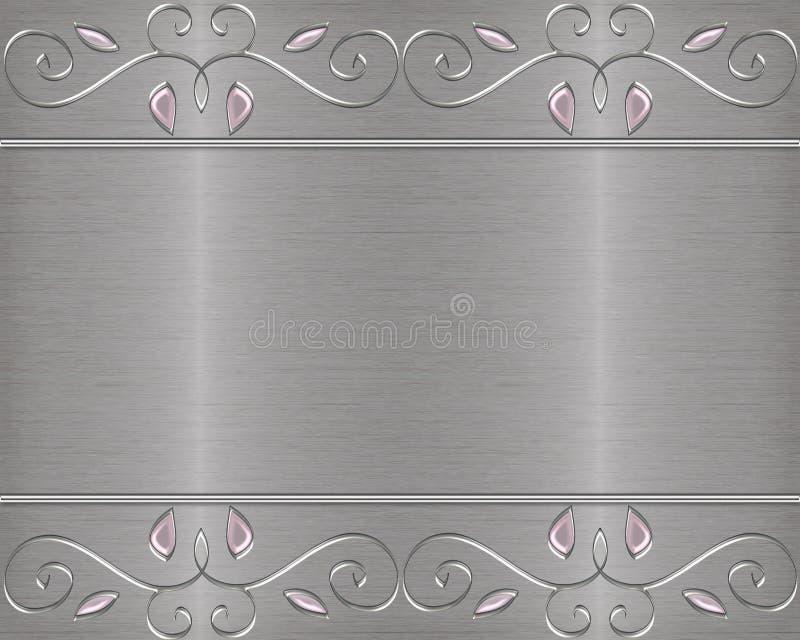 Jewelled aufgetragener Metallvektorhintergrund lizenzfreie stockfotografie
