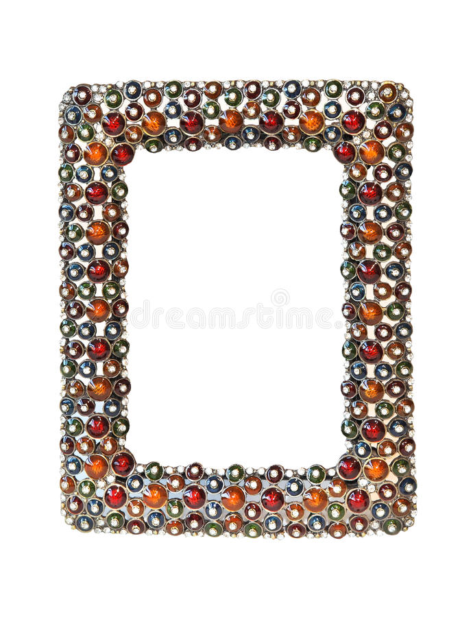 Jewelled frame royalty free stock image