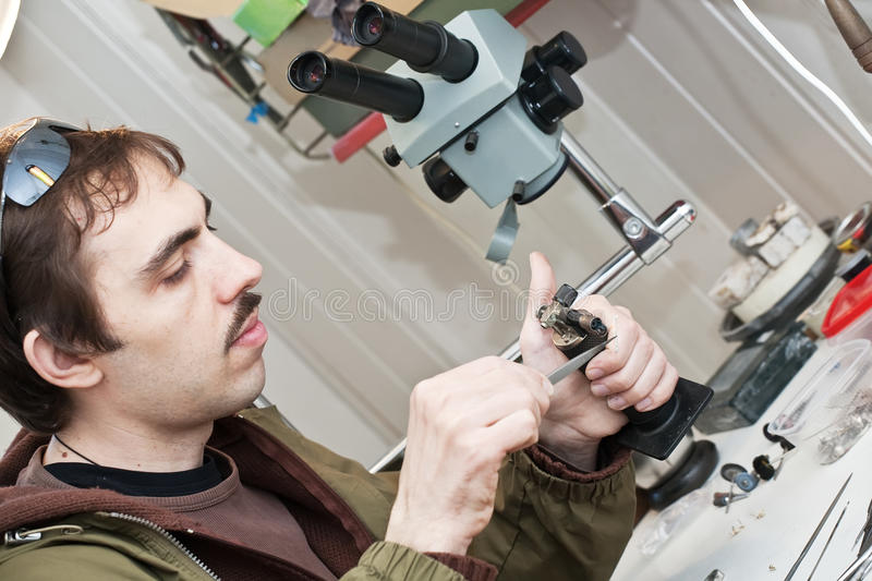 Jeweller stock images