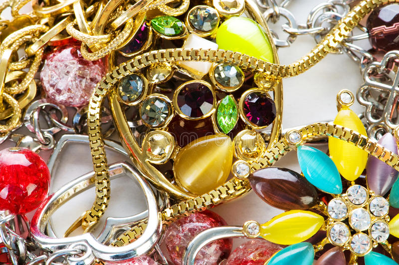 Jewellery arranged as the background