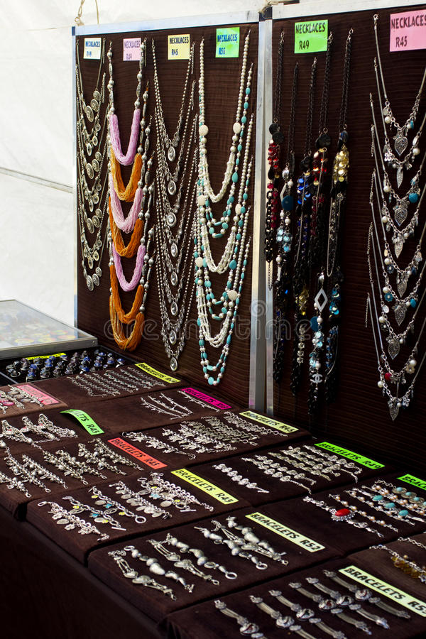 Download Jewellery On Black Backgrounds At Market Stock Photo - Image: 29023038