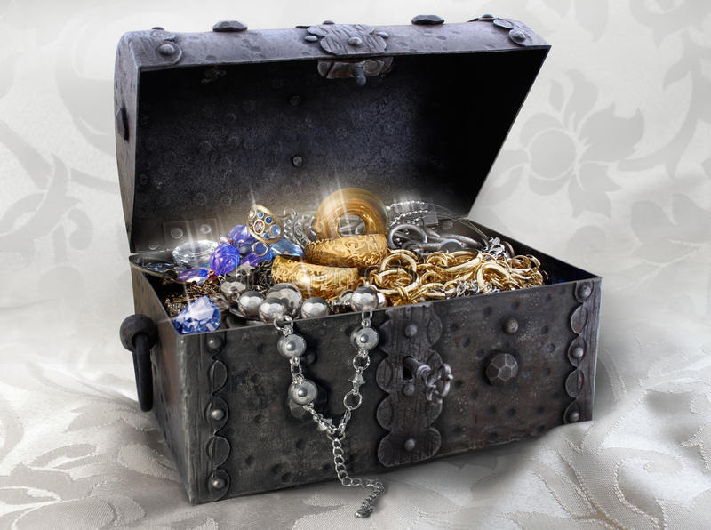 Jewellery box. Photo of a jewellery box royalty free stock photography
