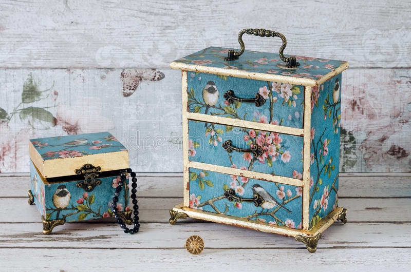 Jewellery Boxes stock photography