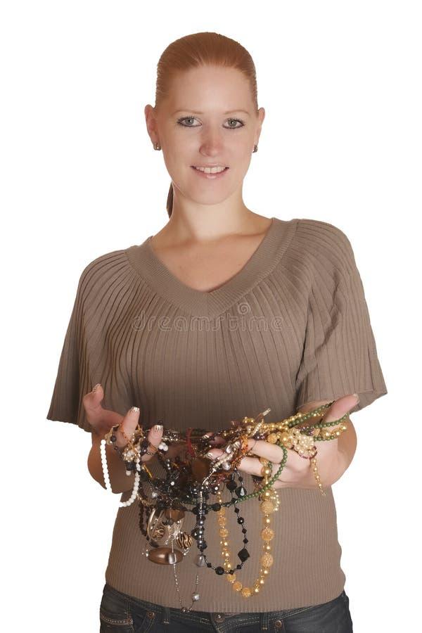 jewellery kobieta zdjęcie royalty free