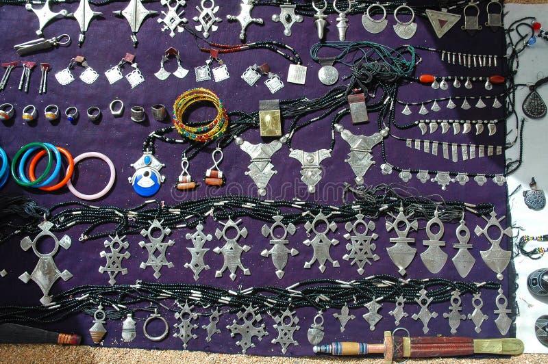 jewellery Niger sprzedaży tuareg zdjęcia royalty free