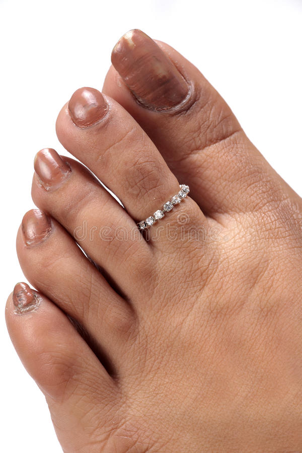 jewellery pierścionku palec u nogi zdjęcia stock