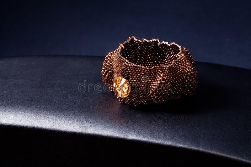 Jewellery Platinum Gold Bracelet Royalty Free Stock Photos