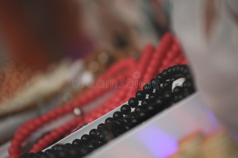 Jewellery set market place day royalty free stock photos