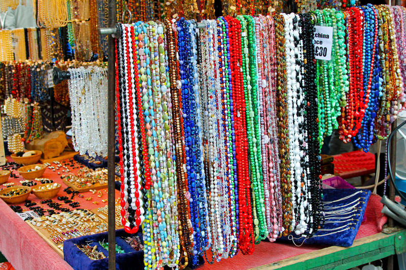 Jewellery Stall Royalty Free Stock Photography