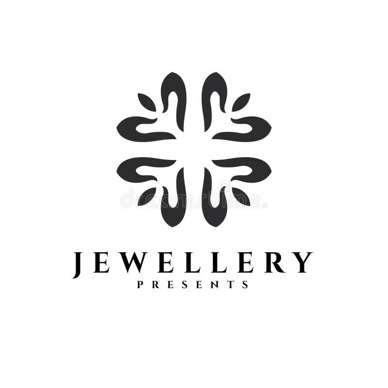 Jewellery wektoru logo Prezenta wektoru logo Złocisty logo Srebny emblemat ilustracji