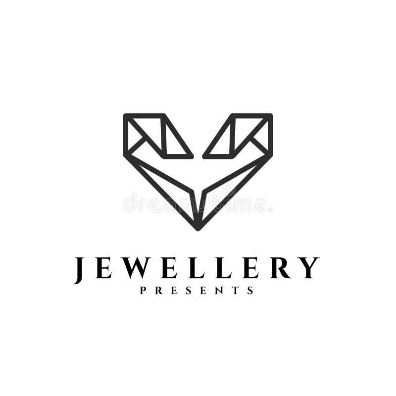 Jewellery wektoru logo Prezenta wektoru logo Złocisty logo Srebny emblemat royalty ilustracja
