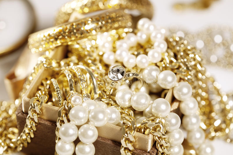 Download Jewelry stock image. Image of chain, close, luxury, pearls - 24546693