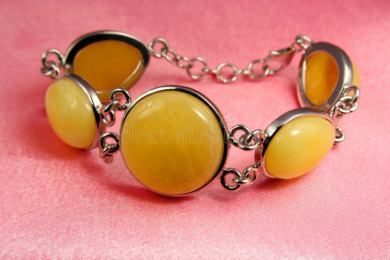Jewelry amber bracelet royalty free stock photography