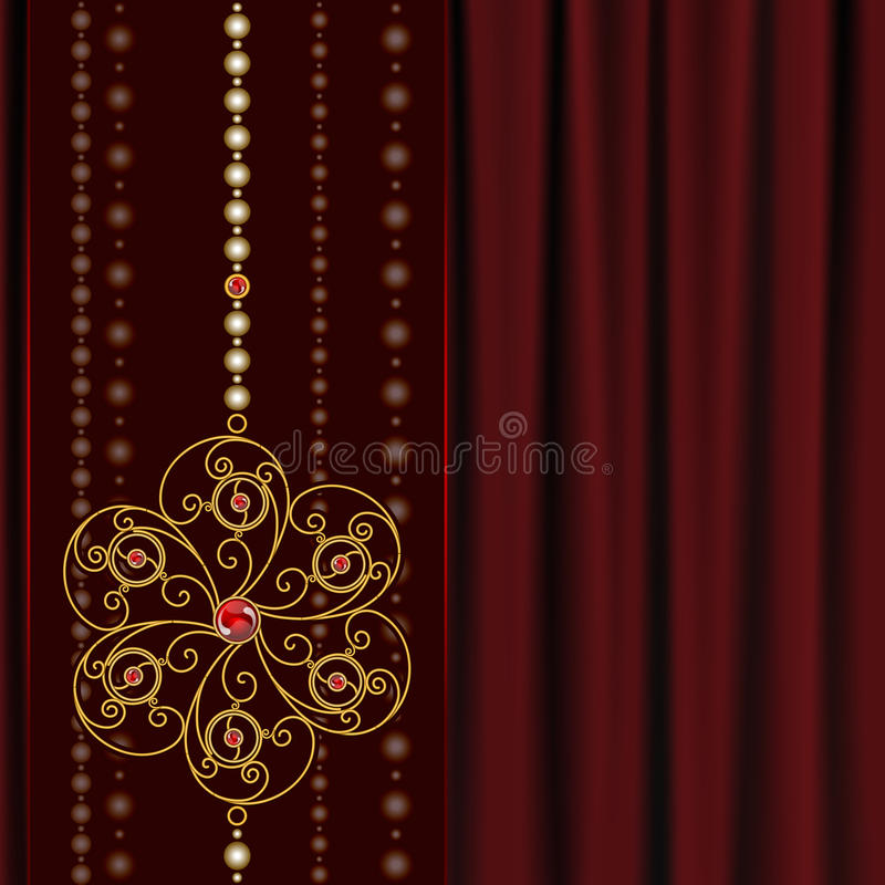 Download Jewelry  background stock vector. Image of flower, fabric - 28781535