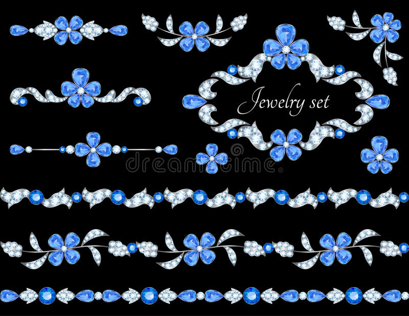 Jewelry borders stock illustration