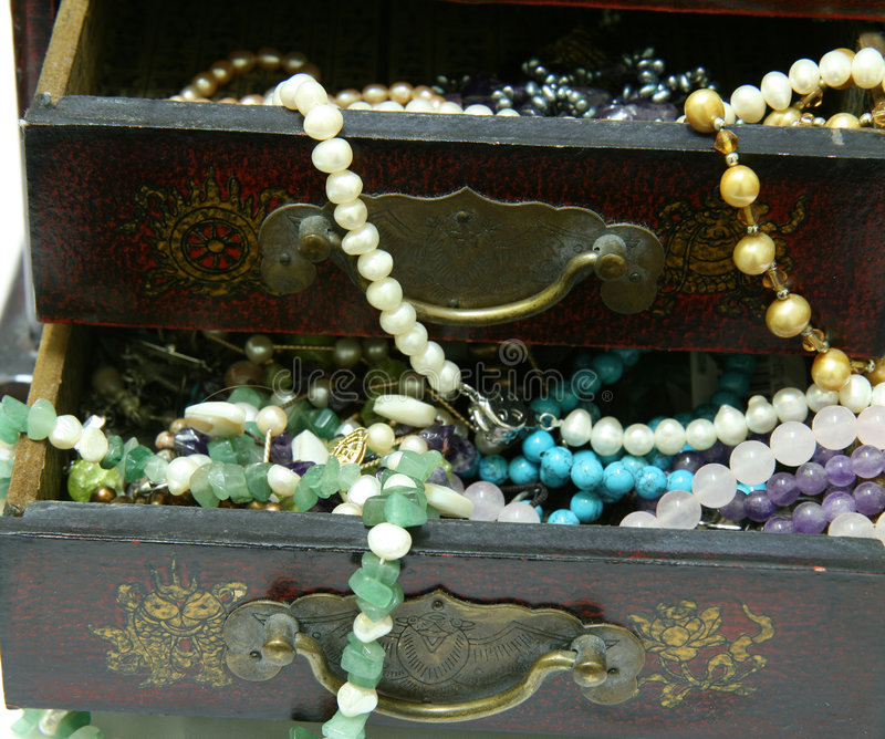 Download Jewelry Box stock image. Image of necklace, vintage, asian - 3224037