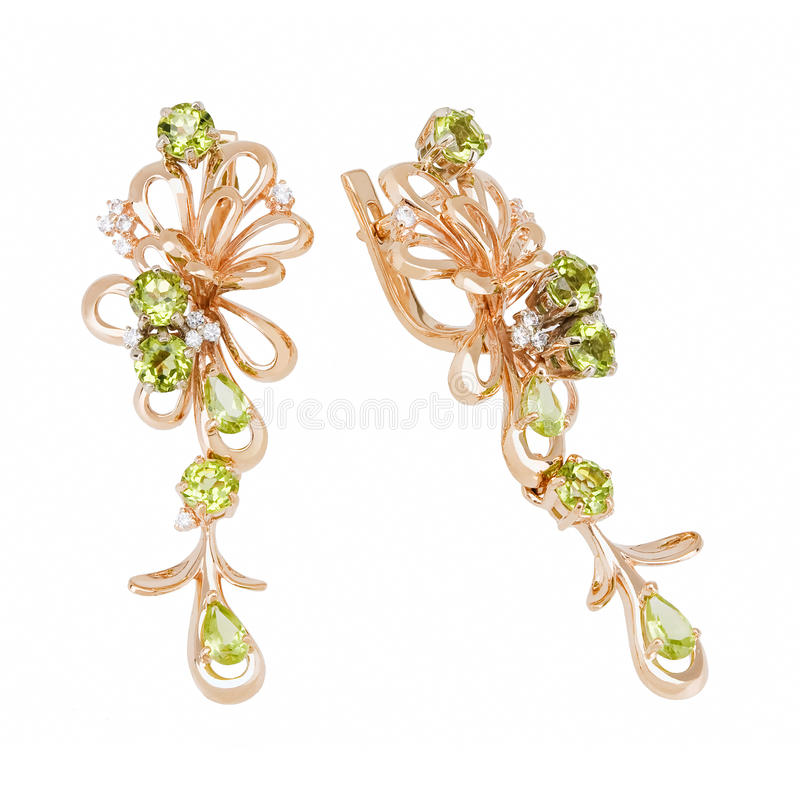 Download Jewelry earring stock image. Image of gift, gold, carat - 24167157