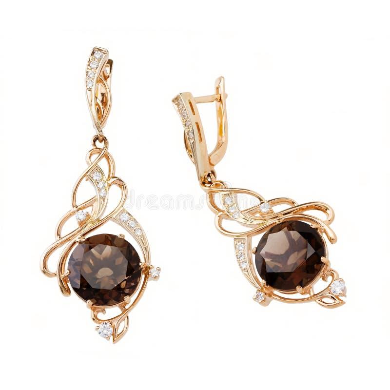 Jewelry earring stock photos