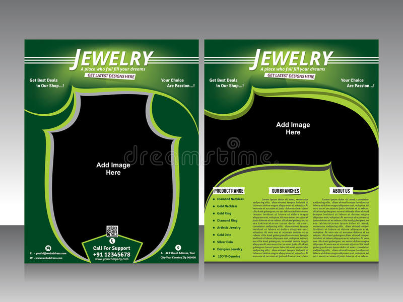 Jewelry Flyer Design  Brochure Stock Vector  Illustration Of