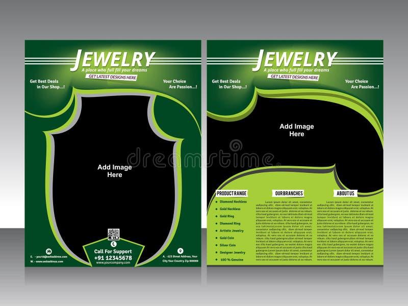 Jewelry Flyer Design  Brochure Stock Vector  Illustration Of