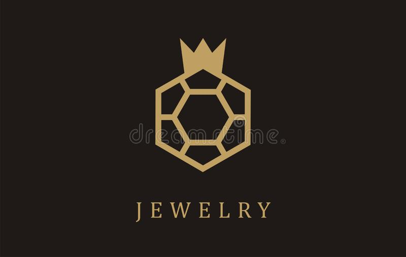 Jewelry gold necklaces ring logo earrings silver. Wedding gift necklace design symbol. Jeweler brooch fashion sing style. Rings glamour carat diamond value vector illustration
