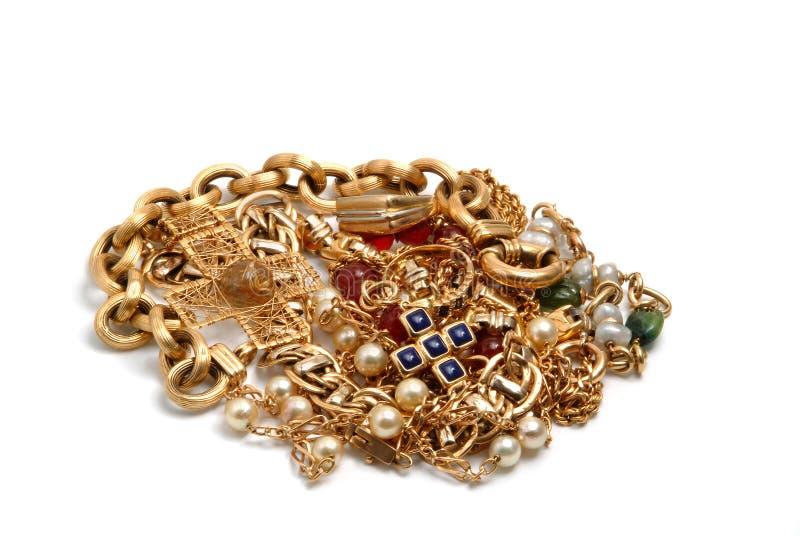 Jewelry gold treasure royalty free stock photo