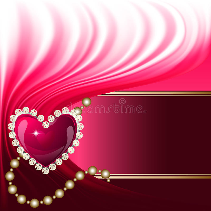 Jewelry heart background stock illustration