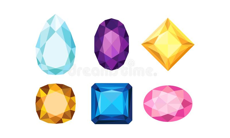 Jewelry Isolated Volume Collection Of Vector Icons. Graphic Shiny Jewellry Symbols vector illustration