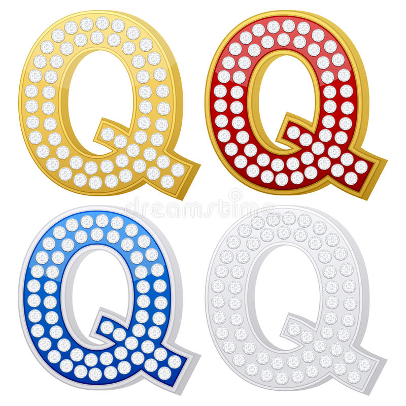 Download Jewelry letter Q stock vector. Image of crystal, diamond - 17429453