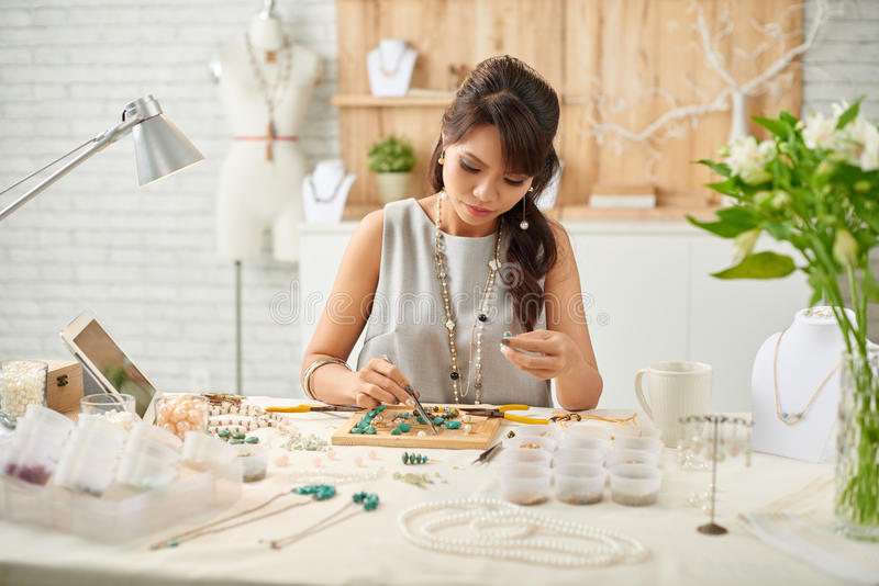 Jewelry making stock photography