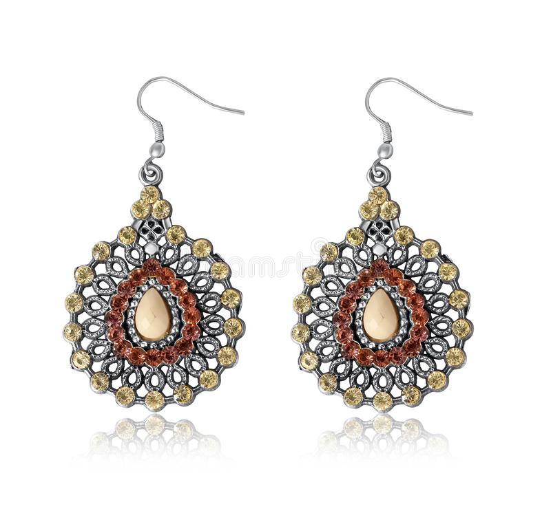 Colorful earring for women & girl royalty free stock image