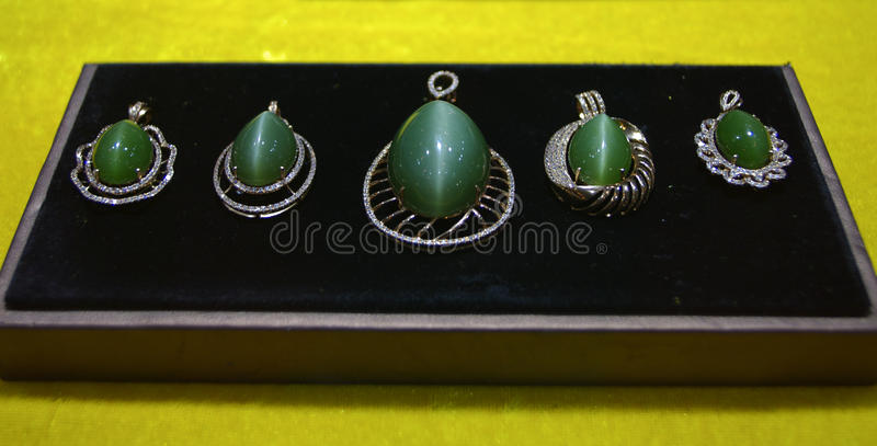 Jewelry and pendant. A group of Gemstone Pendant royalty free stock photos