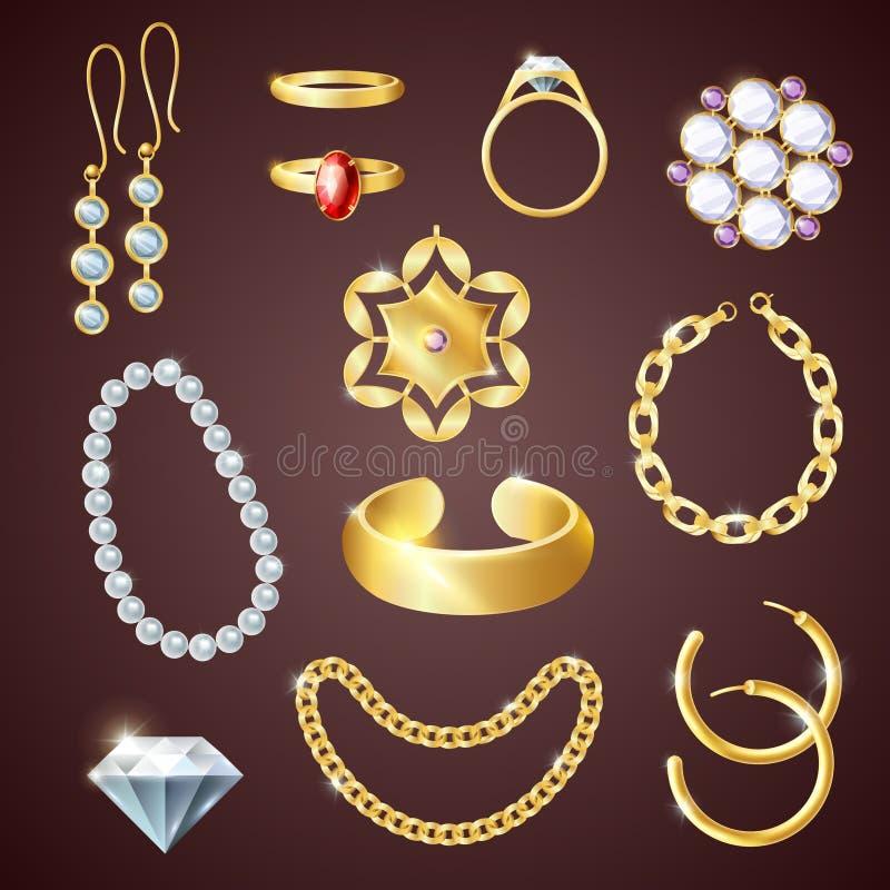 Jewelry Realistic Set stock illustration