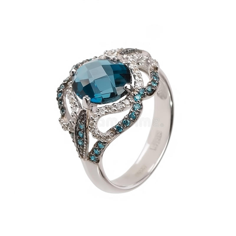 Jewelry ring isolated stock photo