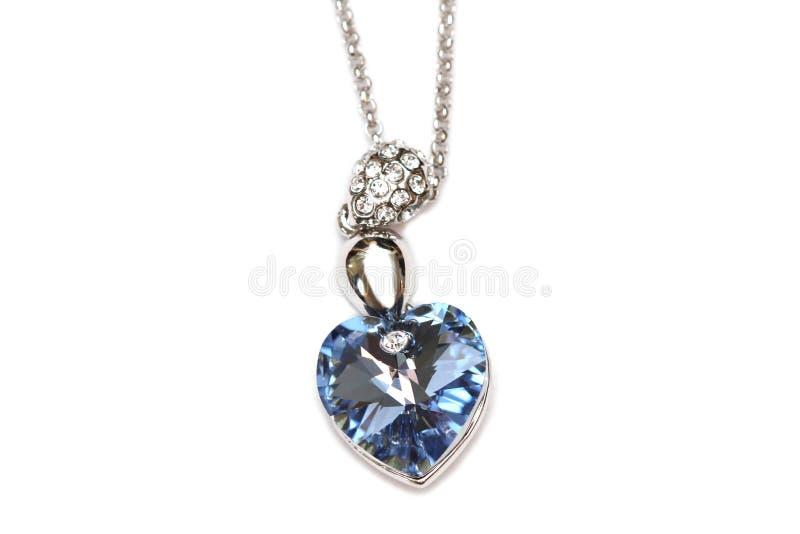 Sapphire necklace stock photos