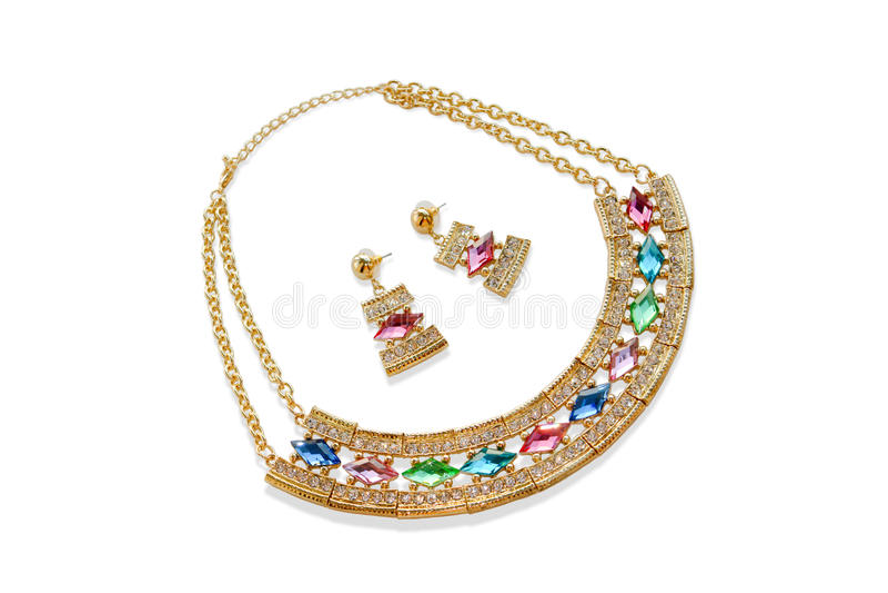 Jewelry set royalty free stock photos