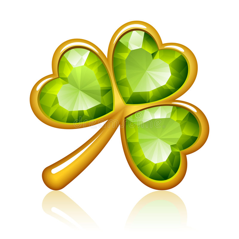 Download Jewelry shamrock stock vector. Image of garnet, icon, irish - 8377250