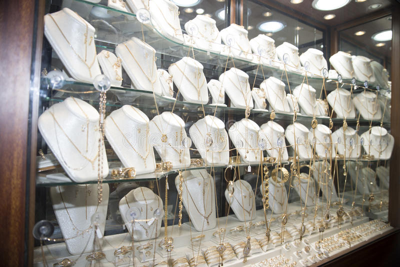 Jewelry shop in Tunis stock image