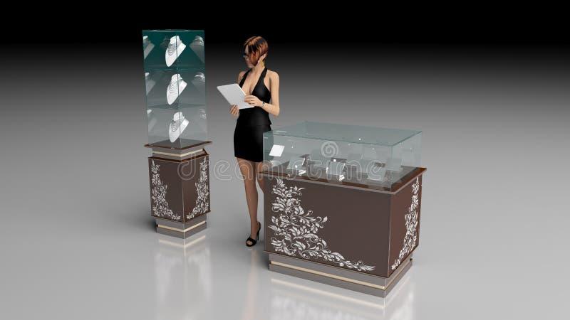 Jewelry store stock illustration