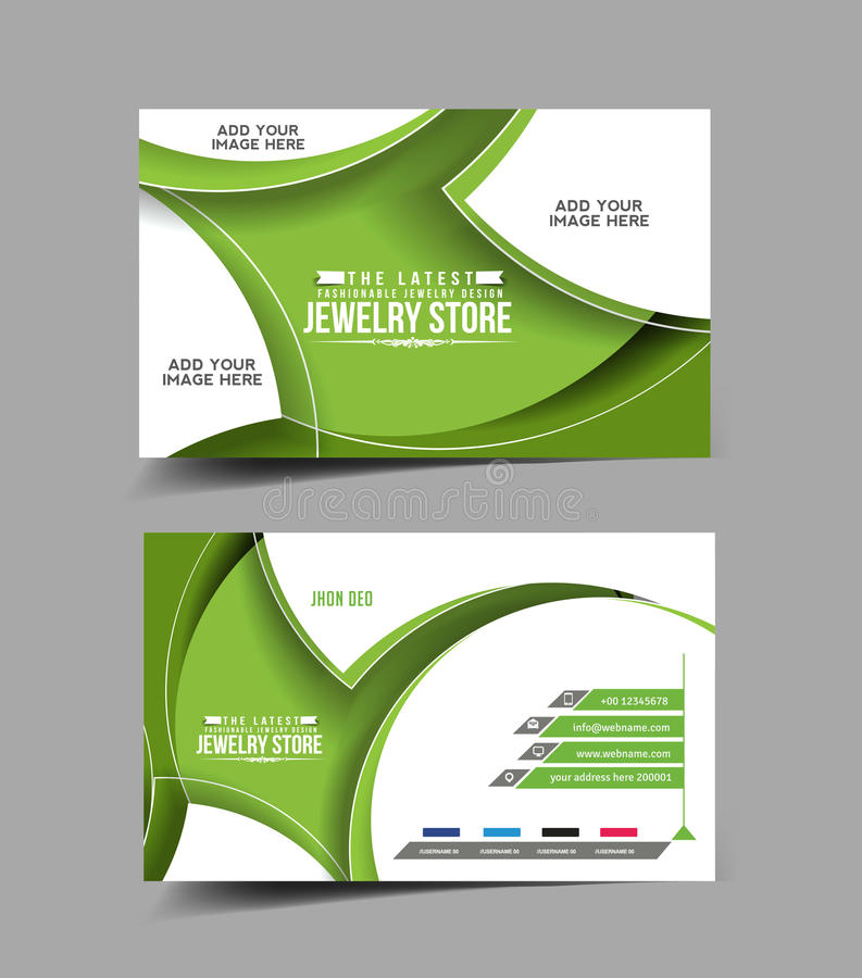 Jewelry Store Business Card Stock Vector - Illustration of business ...