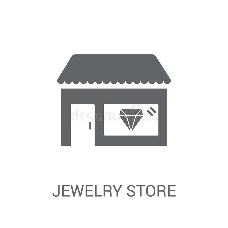Jewelry store icon. Trendy Jewelry store logo concept on white b stock illustration