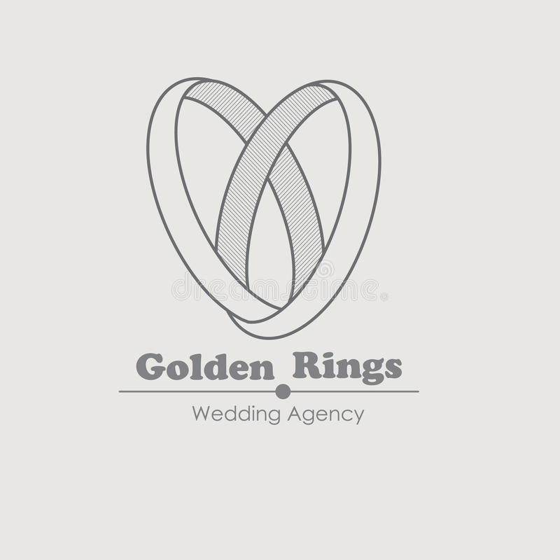 Jewelry Vector Logo Design Template With Rings Stock Vector ...