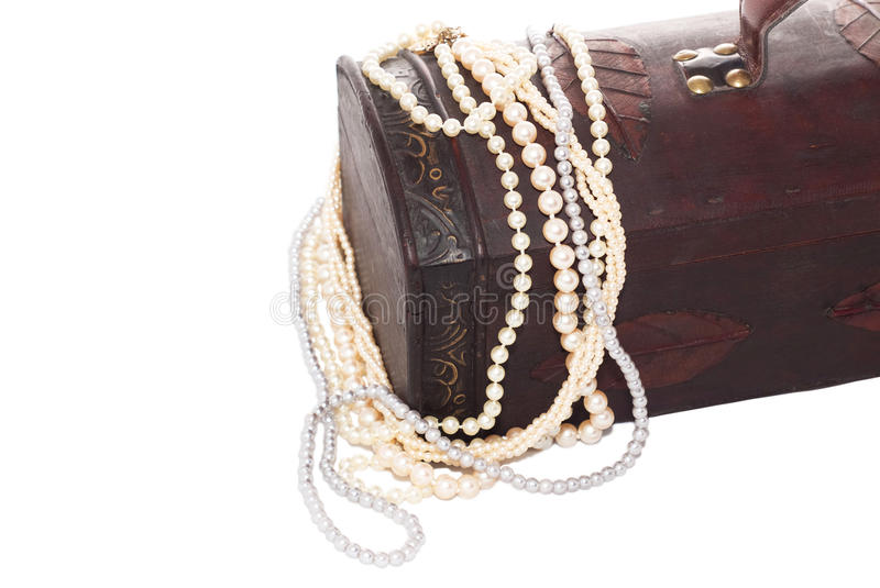 Jewelry wooden box royalty free stock photo