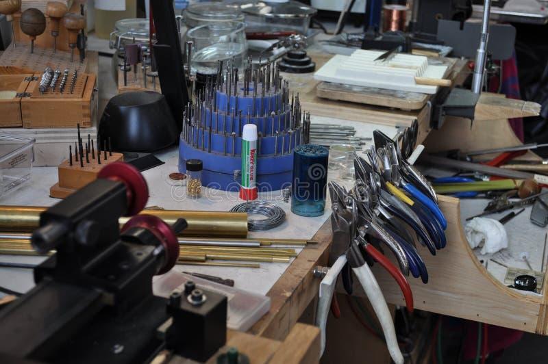 Jewelry workshop series. Taken in my studio in Brooklyn royalty free stock image