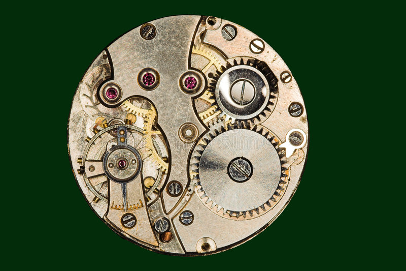Jewels in a watch royalty free stock image