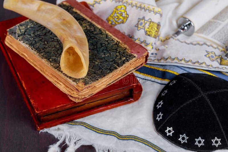 Jewesh-Feiertag mit kippah und talith lizenzfreies stockfoto