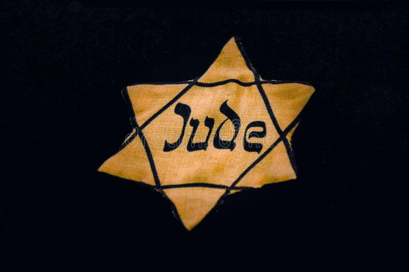 Jewish badges or Jewry star stock photos